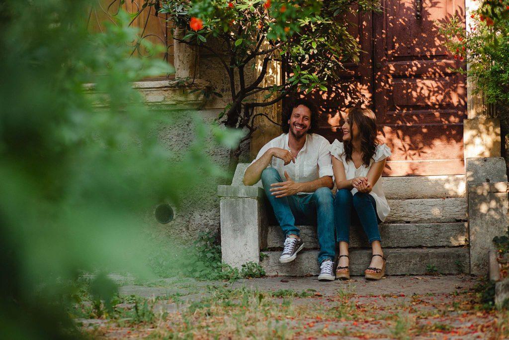 servizio fotografico di coppia fidanzati a Verona