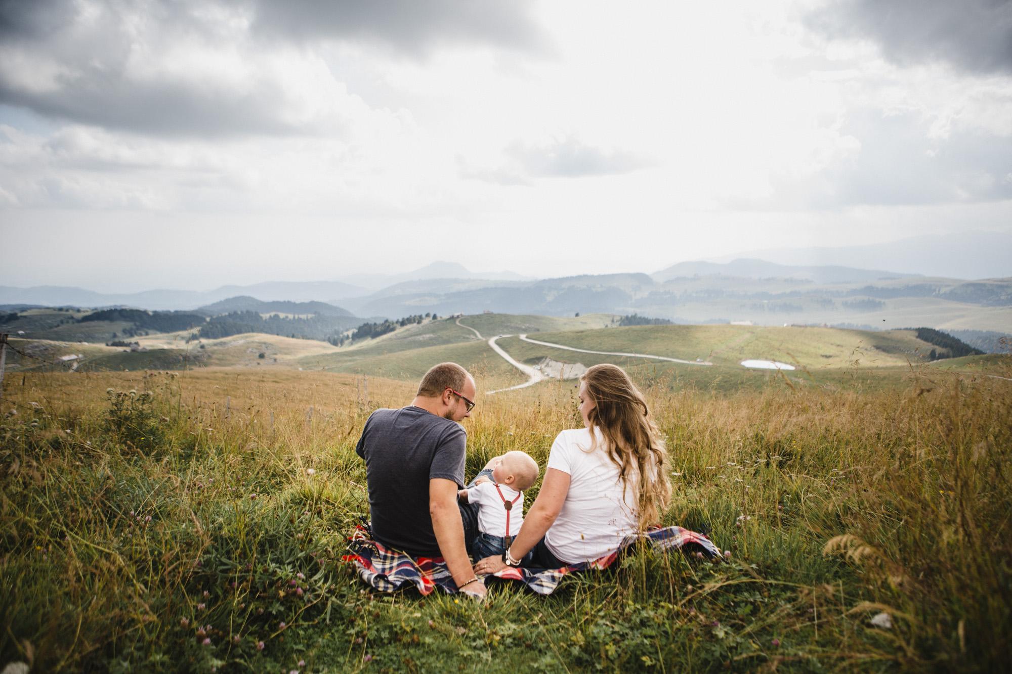 famiglia montagna Lessinia