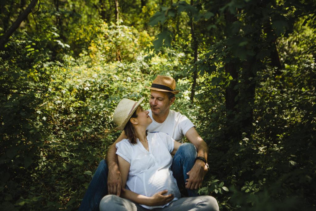 gravidanza nel bosco